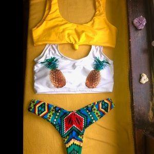 Zaful bathing suit 2 Tops 1 Cheeky bottom